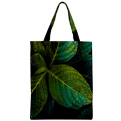 Green Plant Leaf Foliage Nature Zipper Classic Tote Bag by Nexatart