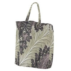 Pattern Decoration Retro Giant Grocery Zipper Tote