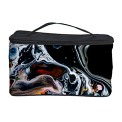 Abstract Flow River Black Cosmetic Storage Case by Nexatart