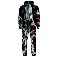 Abstract Flow River Black Hooded Jumpsuit (men)