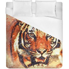 Tiger Portrait Art Abstract Duvet Cover (california King Size)