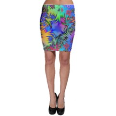 Star Abstract Colorful Fireworks Bodycon Skirt