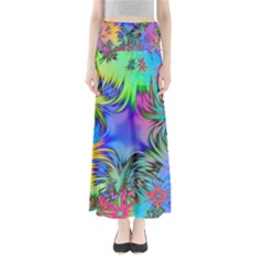 Star Abstract Colorful Fireworks Full Length Maxi Skirt