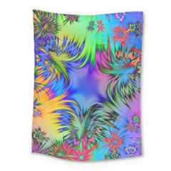 Star Abstract Colorful Fireworks Medium Tapestry by Nexatart