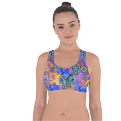 Star Abstract Colorful Fireworks Cross String Back Sports Bra