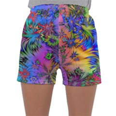 Star Abstract Colorful Fireworks Sleepwear Shorts