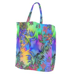 Star Abstract Colorful Fireworks Giant Grocery Zipper Tote
