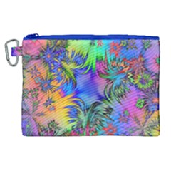 Star Abstract Colorful Fireworks Canvas Cosmetic Bag (xl) by Nexatart