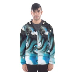 Abstract Painting Background Modern Hooded Wind Breaker (men) by Nexatart