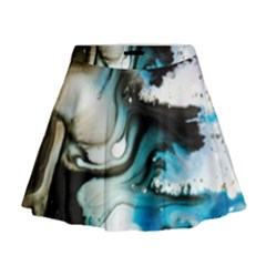 Abstract Painting Background Modern Mini Flare Skirt