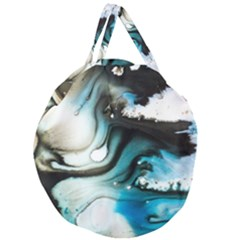Abstract Painting Background Modern Giant Round Zipper Tote
