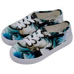 Abstract Painting Background Modern Kids  Classic Low Top Sneakers by Nexatart