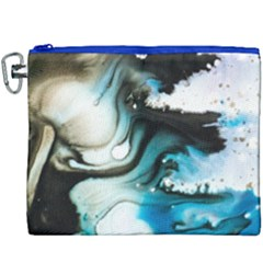 Abstract Painting Background Modern Canvas Cosmetic Bag (xxxl) by Nexatart
