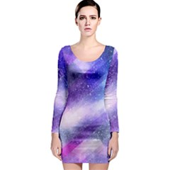 Background Art Abstract Watercolor Long Sleeve Bodycon Dress by Nexatart