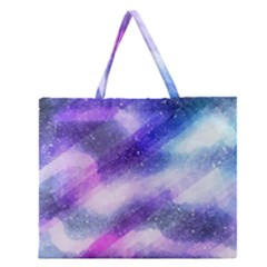 Background Art Abstract Watercolor Zipper Large Tote Bag