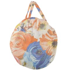 Texture Fabric Textile Detail Giant Round Zipper Tote