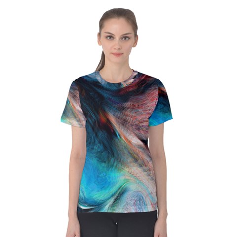 Background Art Abstract Watercolor Women s Cotton Tee by Nexatart