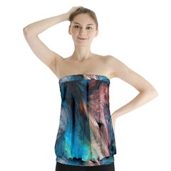 Background Art Abstract Watercolor Strapless Top by Nexatart