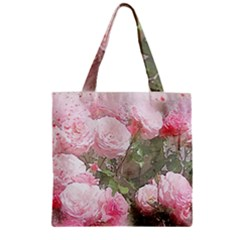 Flowers Roses Art Abstract Nature Zipper Grocery Tote Bag by Nexatart