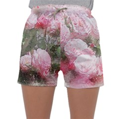 Flowers Roses Art Abstract Nature Sleepwear Shorts