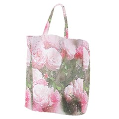Flowers Roses Art Abstract Nature Giant Grocery Zipper Tote