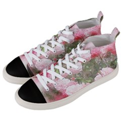 Flowers Roses Art Abstract Nature Men s Mid Top Canvas Sneakers by Nexatart