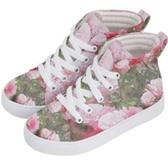 Flowers Roses Art Abstract Nature Kid s Hi Top Skate Sneakers by Nexatart