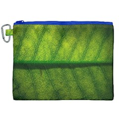 Leaf Nature Green The Leaves Canvas Cosmetic Bag (xxl) by Nexatart