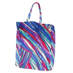 Texture Pattern Fabric Natural Giant Grocery Zipper Tote