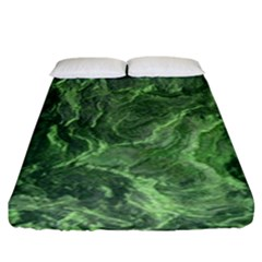 Geological Surface Background Fitted Sheet (king Size)