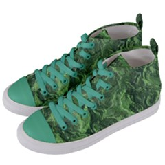 Geological Surface Background Women s Mid Top Canvas Sneakers by Nexatart