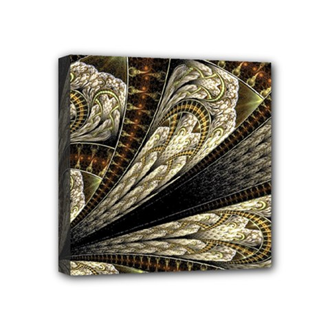 Fractal Abstract Pattern Spiritual Mini Canvas 4  X 4