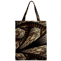 Fractal Abstract Pattern Spiritual Zipper Classic Tote Bag