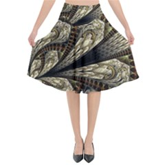 Fractal Abstract Pattern Spiritual Flared Midi Skirt by Nexatart