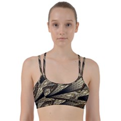 Fractal Abstract Pattern Spiritual Line Them Up Sports Bra