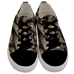 Fractal Abstract Pattern Spiritual Men s Low Top Canvas Sneakers