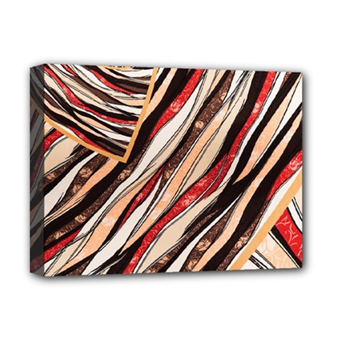 Fabric Texture Color Pattern Deluxe Canvas 16  X 12
