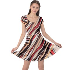 Fabric Texture Color Pattern Cap Sleeve Dress by Nexatart