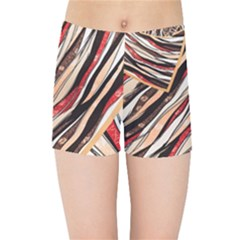 Fabric Texture Color Pattern Kids Sports Shorts by Nexatart