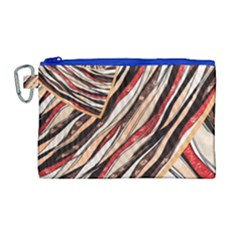 Fabric Texture Color Pattern Canvas Cosmetic Bag (large) by Nexatart