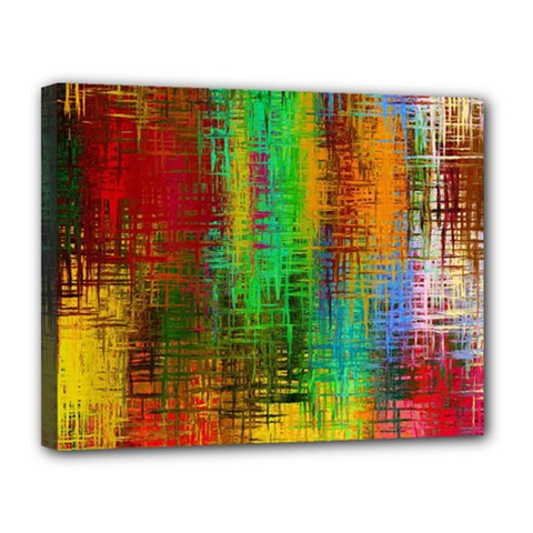 Color Abstract Background Textures Canvas 14  X 11  by Nexatart