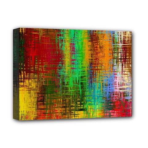 Color Abstract Background Textures Deluxe Canvas 16  X 12   by Nexatart