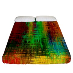 Color Abstract Background Textures Fitted Sheet (california King Size)