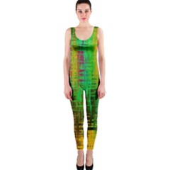 Color Abstract Background Textures One Piece Catsuit