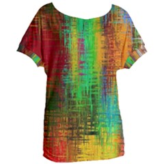 Color Abstract Background Textures Women s Oversized Tee