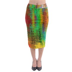 Color Abstract Background Textures Midi Pencil Skirt