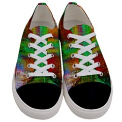 Color Abstract Background Textures Women s Low Top Canvas Sneakers