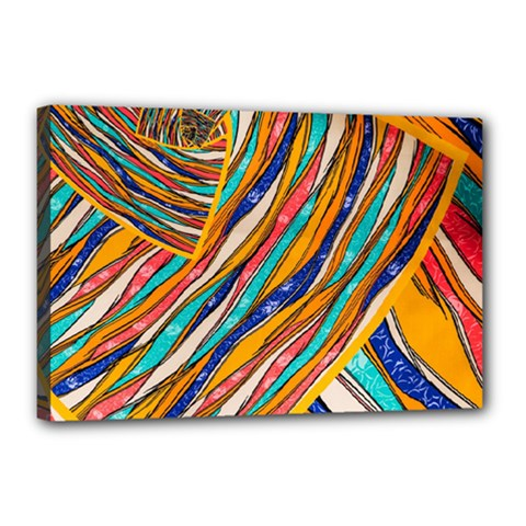 Fabric Texture Color Pattern Canvas 18  X 12  by Nexatart