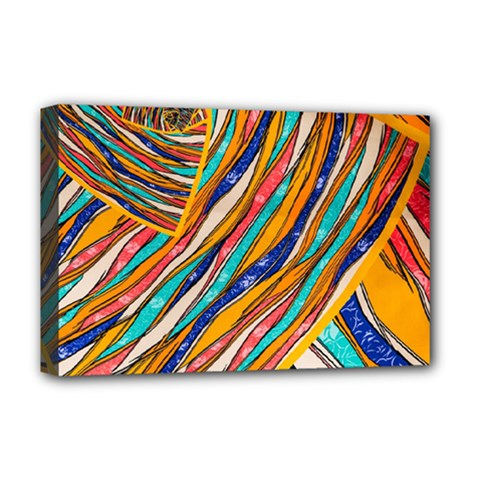 Fabric Texture Color Pattern Deluxe Canvas 18  X 12   by Nexatart