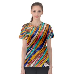 Fabric Texture Color Pattern Women s Sport Mesh Tee